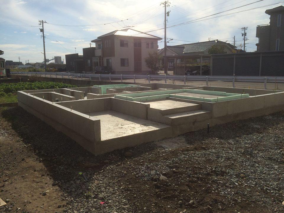 福井市上野本町の施工